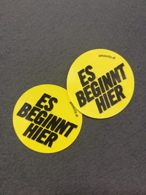 Esbeginnthier Sticker | © Amnesty International
