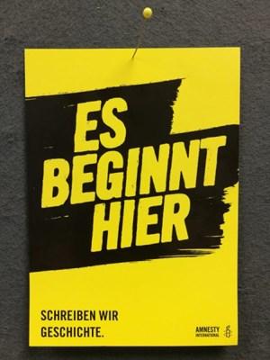 Esbeginnthier Flyer A6 | © Amnesty International