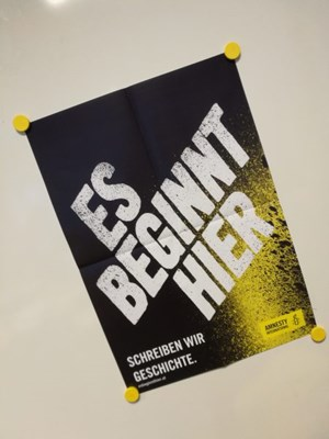 Esbeginnthier A2 Poster | © Amnesty International