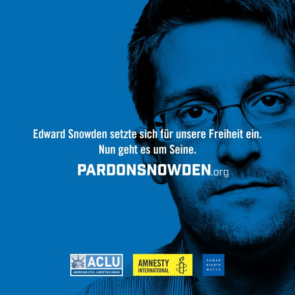 Präsident Obama soll Edward Snowden begnadigen 1 | © Amnesty International