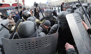 Thumbnail 246829 BELARUS - Police detain demonstrators at Minsk opposition protest  | © VIKTOR DRACHEV/TASS/Getty Images