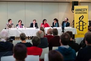 Thumbnail Podiumsdiskussion zur Nationalratswahl | © Amnesty International/Christoph Liebentritt