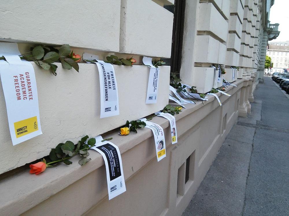 IranAktion17 Blumen | © AI Netzwerk Frauenrechte