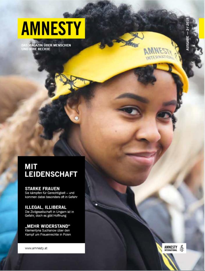 Amnesty Magazin 2-2018 Cover