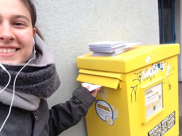 Postversand beim Briefmarathon | © NorbertWachter
