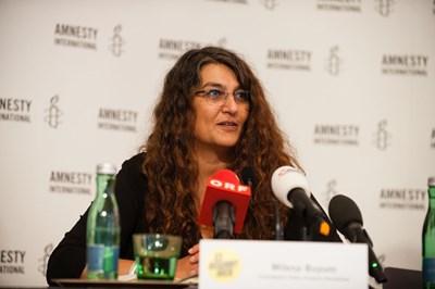 Milena Buyum, Amnesty International. Pressekonferenz: Ein gefährlicher Trend, 7. September 2017 | © Amnesty International/Christoph Liebentritt