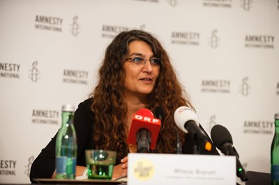 Milena Buyum, Amnesty International. Pressekonferenz: Ein gefährlicher Trend, 7. September 2017 | © Amnesty International/Christoph Liebentritt