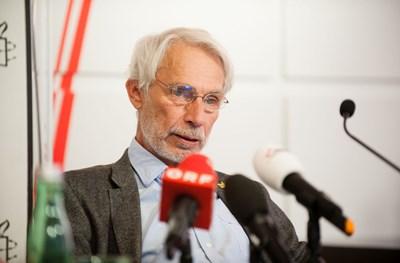 Heinz Patzelt, Pressekonferenz: Ein gefährlicher Trend, 7. September 2017 | © Amnesty International/Christoph Liebentritt
