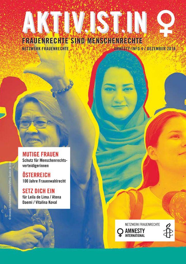 Aktivistin Cover 4 2018 | © Netzwerk Frauenrechte