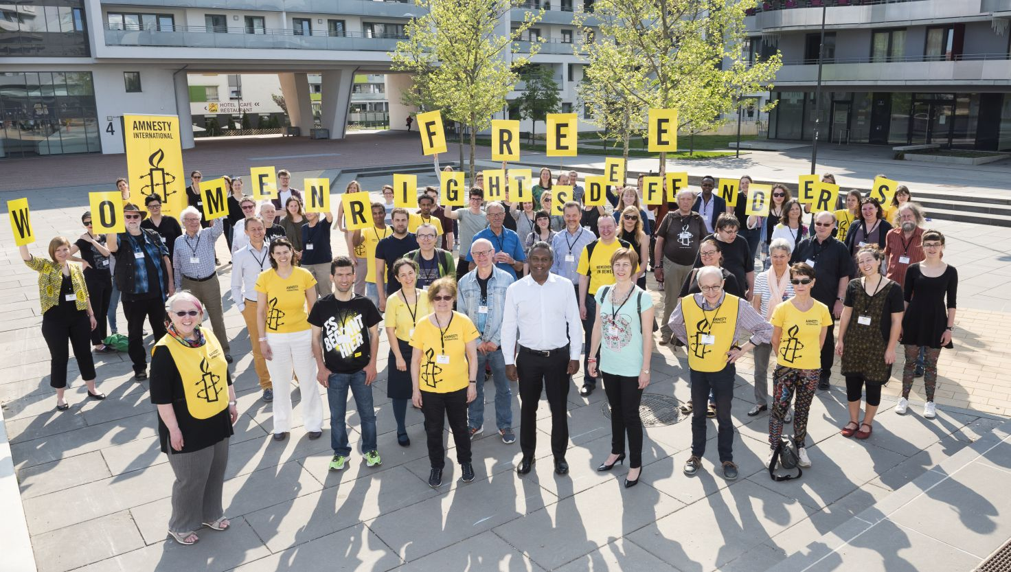 Aktion Mitgliederversammlung 2018 in Wien | © Amnesty International/Christoph Bartylla