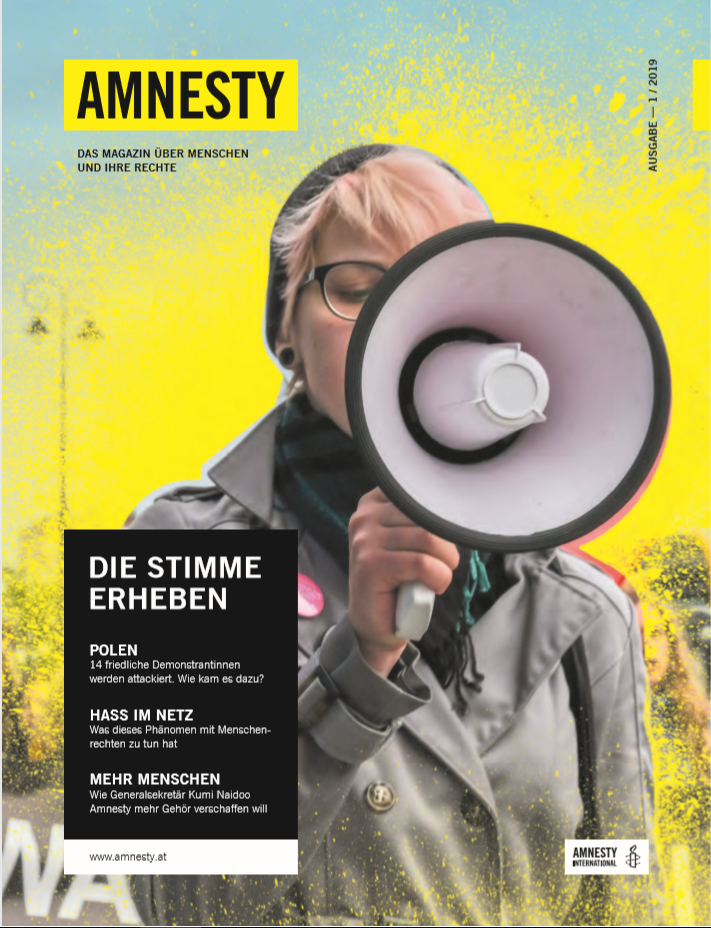 Cover Amnesty Magazin 1-19
