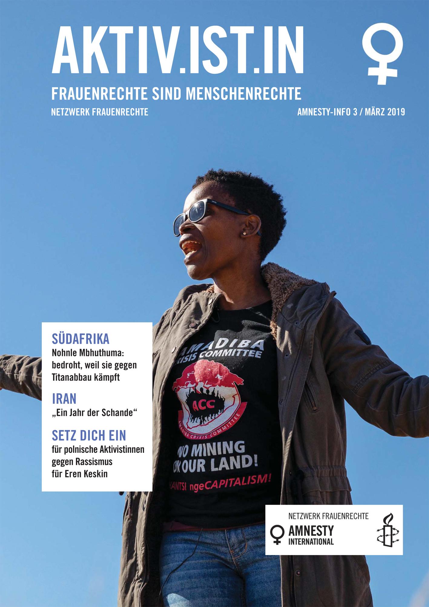 Aktivistin Cover 1 2019 | © Netzwerk Frauenrechte
