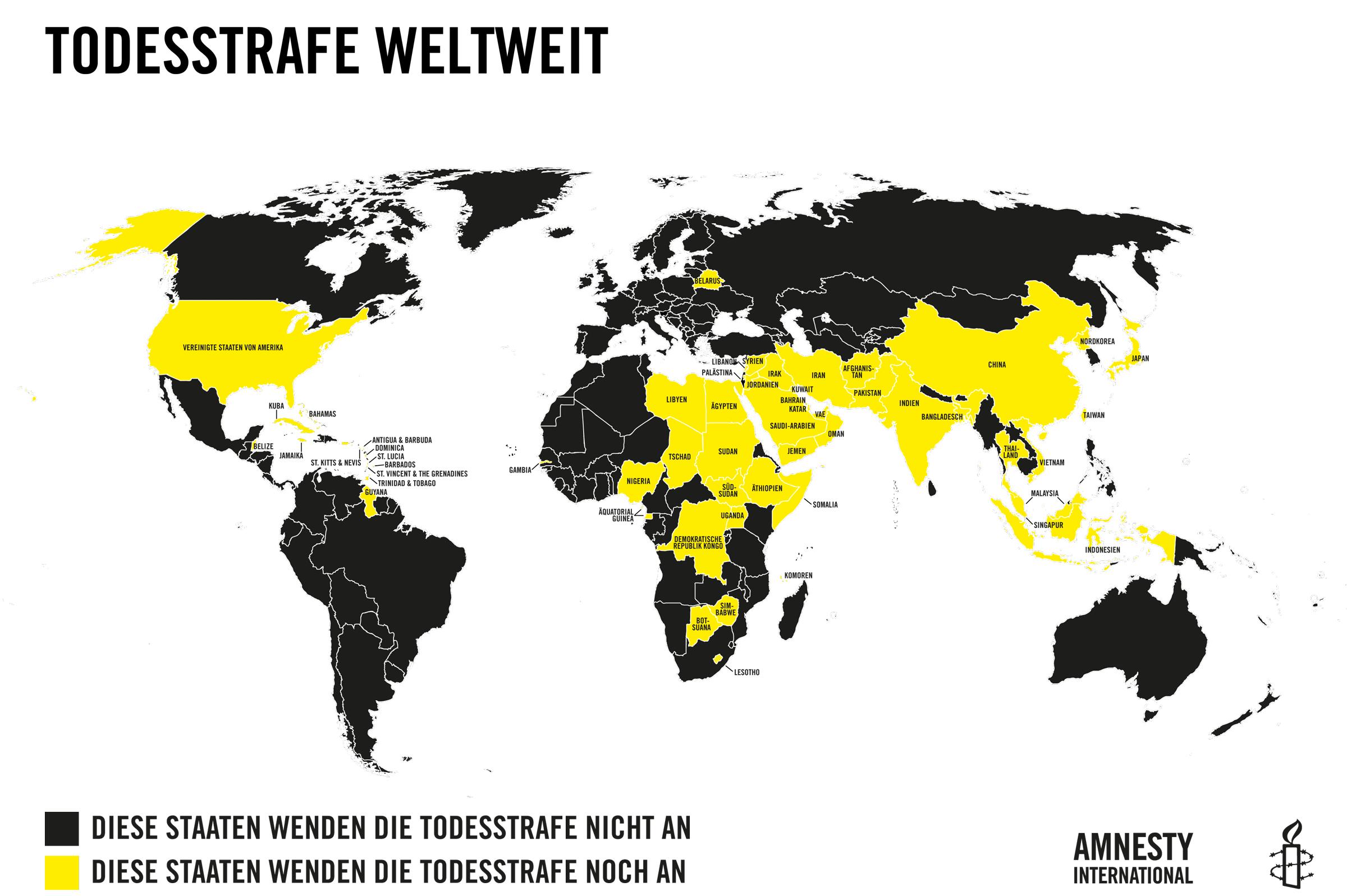 Usa Karte Ohne Staaten.Todesstrafen Statistik 2018 Amnesty International österreich