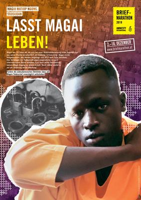 Plakat&Tischaufsteller Magai | © Amnesty International/Design: Gerda Decker