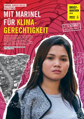 Plakat&Tischaufsteller Marinel   © Amnesty International/Design: Gerda Decker