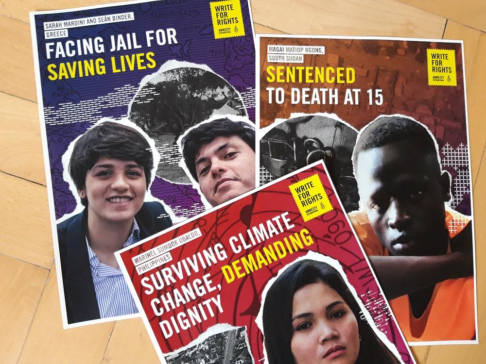 Briefmarathon 2019: Vier junge Menschen | © Amnesty International
